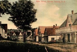 The postcard above is of downtown Harvey facing east, this postcard was sent in 1911. Image thanks to J.Hall.