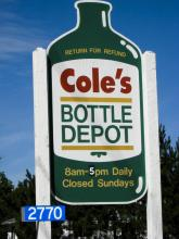 Cole's Bottle Depot: Return for Refund